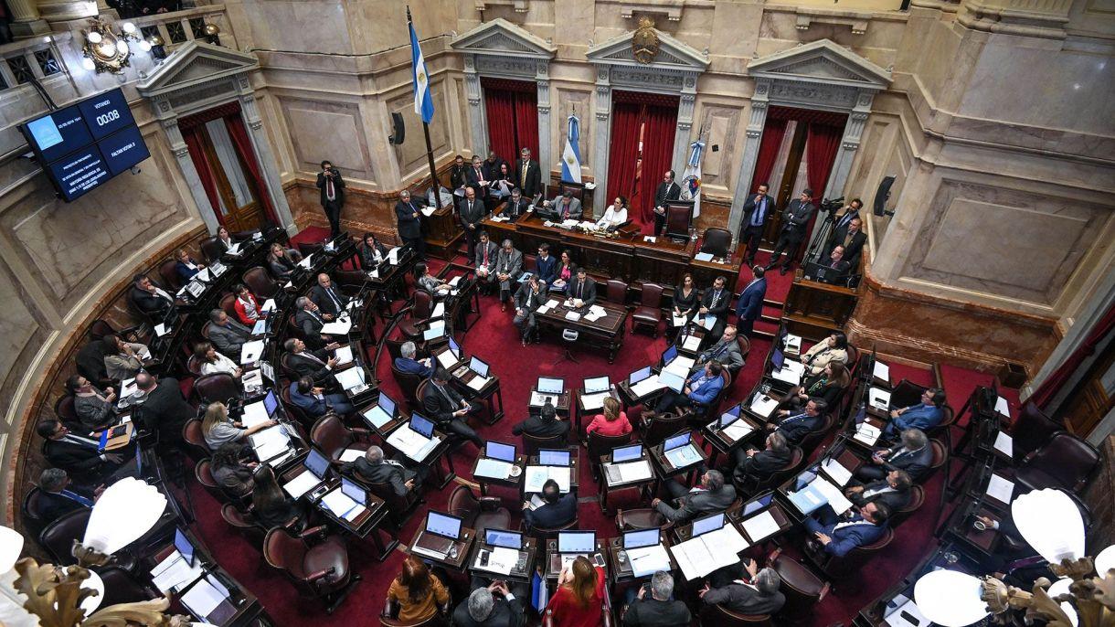 Recinto de la Cámara de Senadores