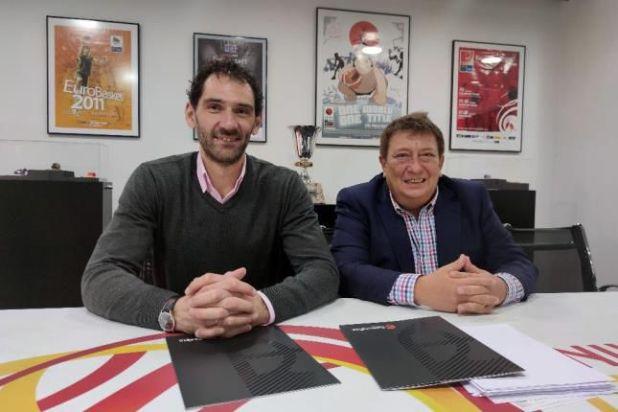 Jorge Garbajosa (presidente de la Federación Española) y Fabián Borro (CABB)