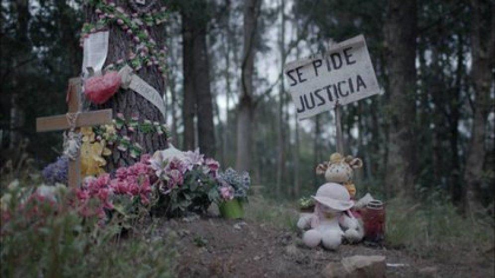 """El lugar donde fue hallado el cuerpo de Asunta, muy cerca de la casa de campo de sus padres donde fue vista por última vez (Imagen """"Lo que la verdad esconde"""", Antena 3)"""