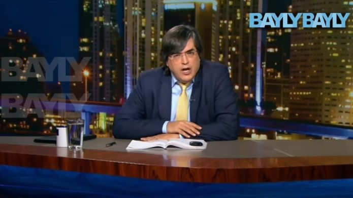 Jaime Bayly in his last program broadcast from Miami where he linked Evo Morales with the Sinaloa Cartel (Bayly TV)