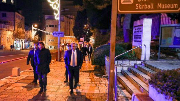 El presidente Alberto fernandez en Israel, en enero último
