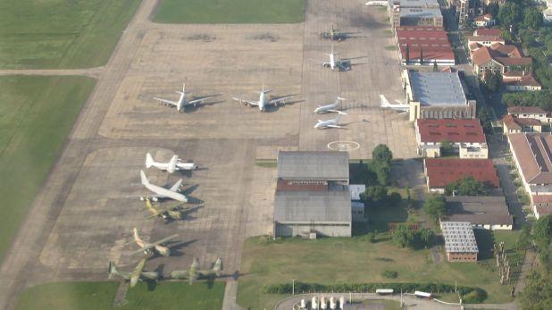 Vista aérea del aeropuerto de El Palomar