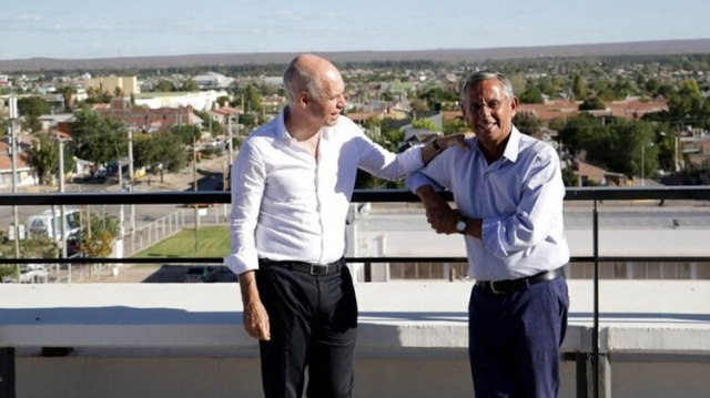 El jefe de Gobierno porteño viajó a Neuquén para apoyar a Quiroga (Gentileza LMNeuquén)