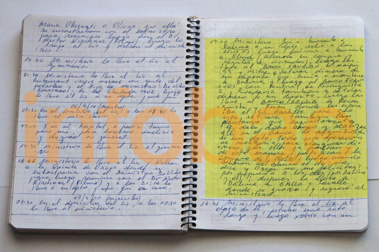 Uno de los cuadernos que son parte de la causa judicial