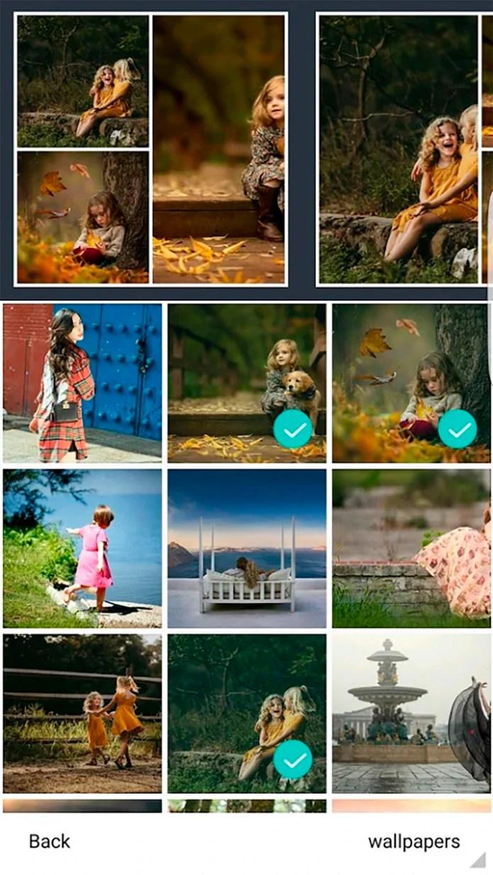 Es muy intuitiva y, al igual que Layout, permite armar un collage con varias fotos e ir adaptando la forma de la imagen.