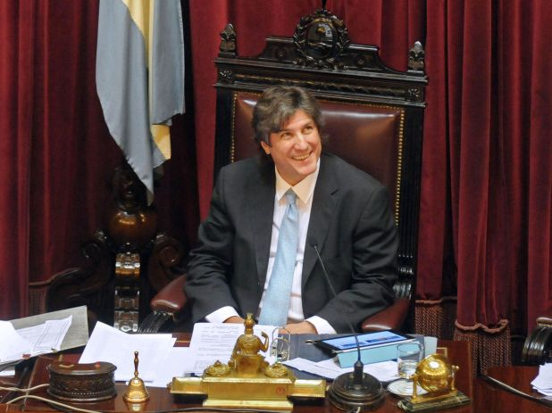 Amado Boudou, en su primera sesión en el Senado como vicepresidente
