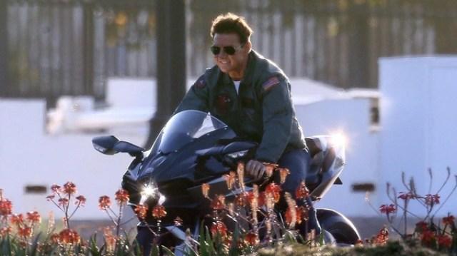"""Tom Cruise en el set de rodaje de la secuela de """"Top Gun"""" en San Diego, California (Grosby Group)"""