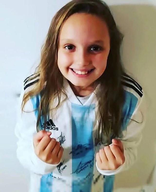 La pequeña es fanática de la selección argentina femenina y de sus jugadoras