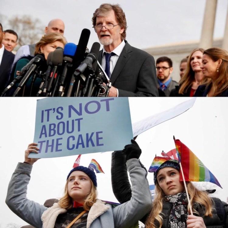 """Los defensores de los derechos LGBT se manifestaron en contra de la decisión de Phillips, al alegar que el caso simboliza """"mucho más que un pastel"""""""