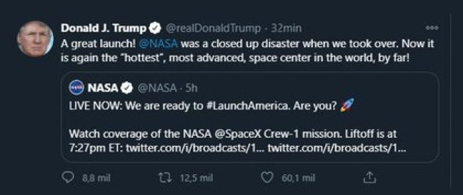 El tuit de Donald Trump