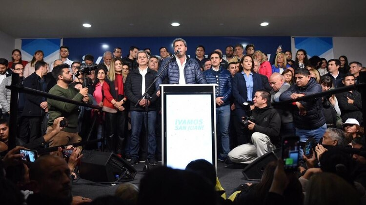 El discurso del gobernador de San Juanuna vez consumada la victoria electoral