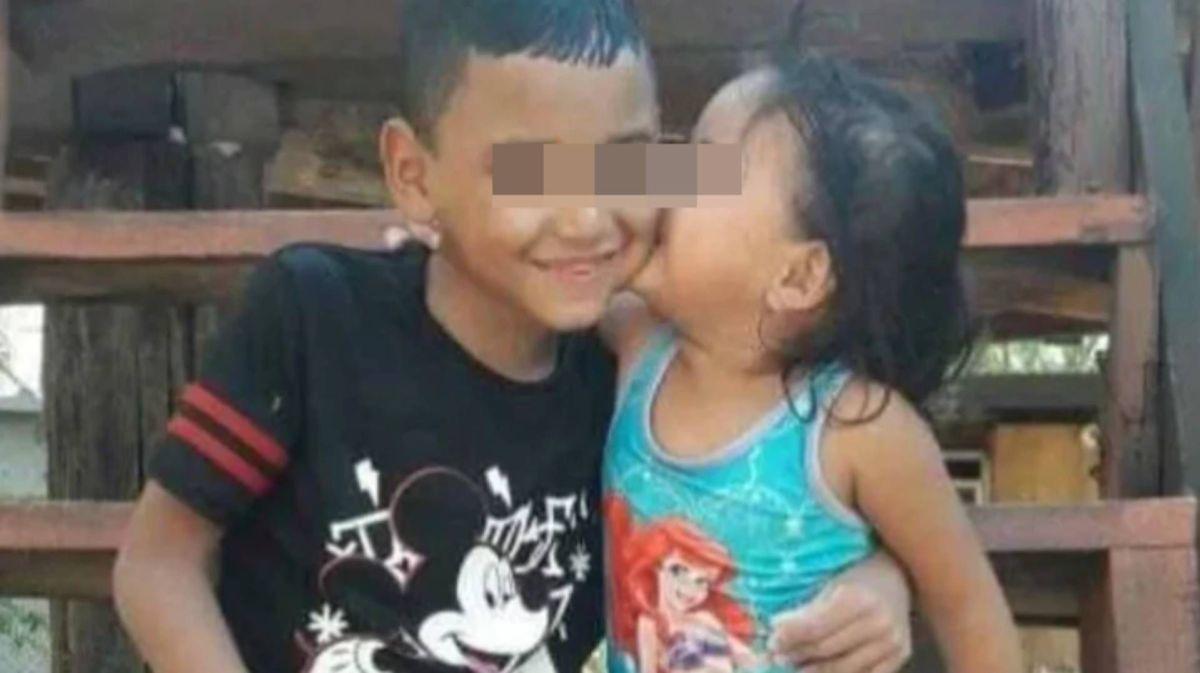 Los niños Dayron, de 8 años, y Keyla, de 2, resultaron con quemaduras del 90 por ciento de su cuerpo (Foto: Especial)