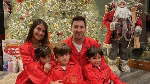 familia messi navidad