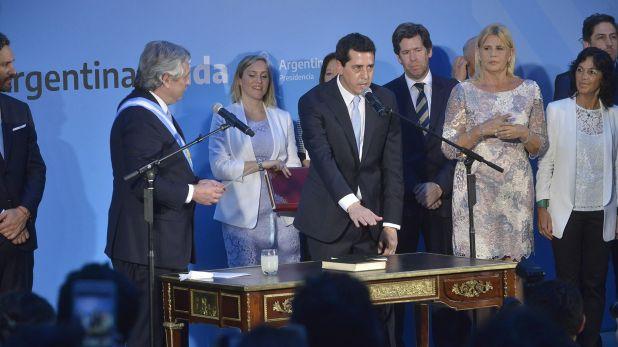 """Eduardo """"Wado"""" de Pedro, en su jura como ministro del Interior.(Gustavo Gavotti)"""