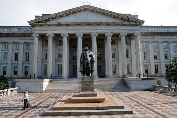 FOTO DE ARCHIVO. La sede del Departamento del Tesoro de Estados Unidos en Washington, D.C., Estados Unidos. 6 de agosto de 2018. REUTERS/Brian Snyder