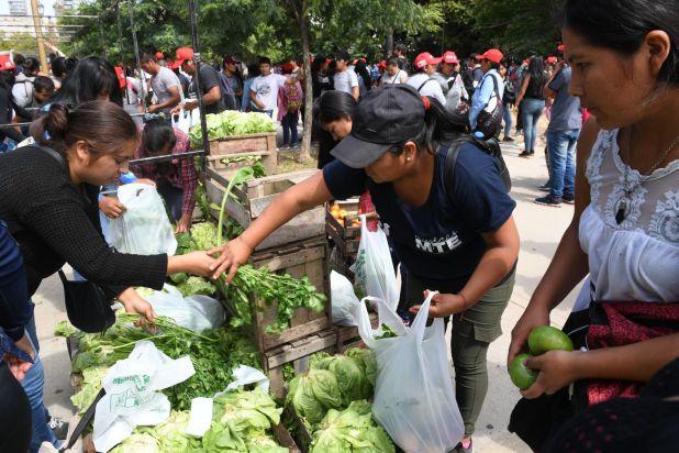 Los manifestante expusieron su apoyo al gobierno nacional