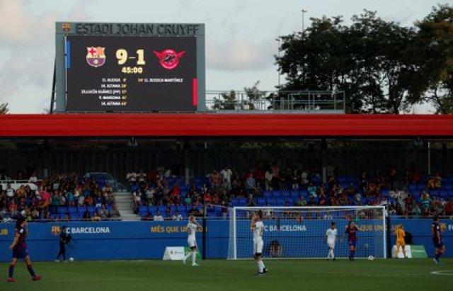 El objetivo del Real Madrid es convertir al CD Tacón, que perdió 9-1 con el Barcelona, en una potencia (Reuters)
