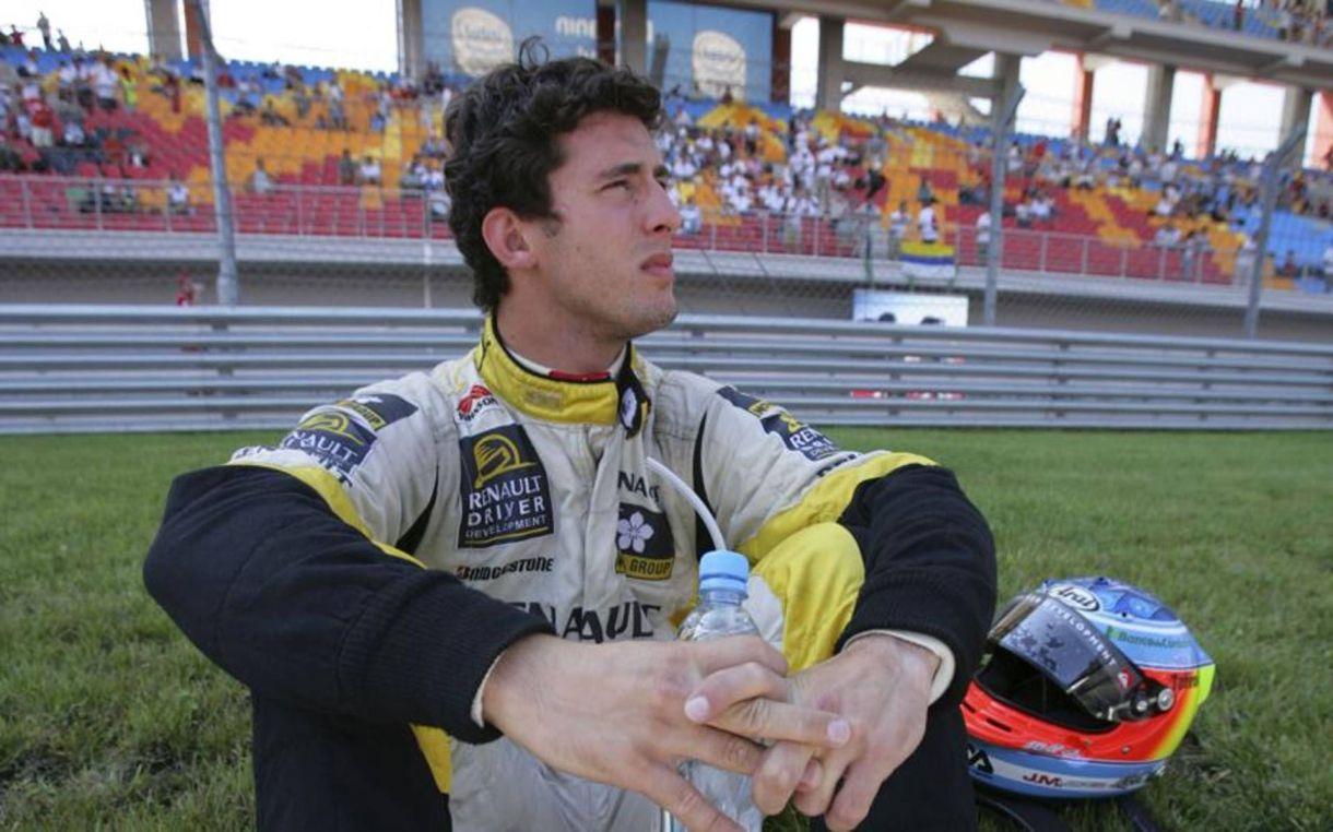 José María López en su época de piloto probador de Renault. F1. Crédito: Prensa Renault Sport.