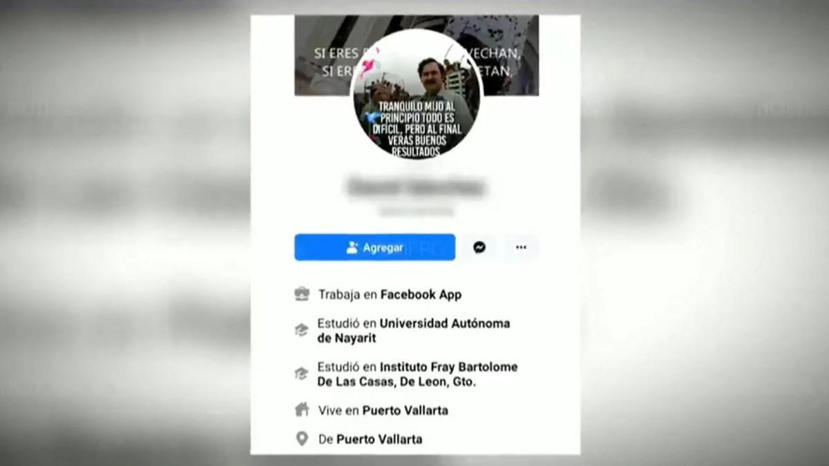 """El perfil de Facebook de """"El Vaca"""", donde tiene imágenes en fiestas infantiles y videos de narcocorridos (Foto: Twitter/siete_letras)"""
