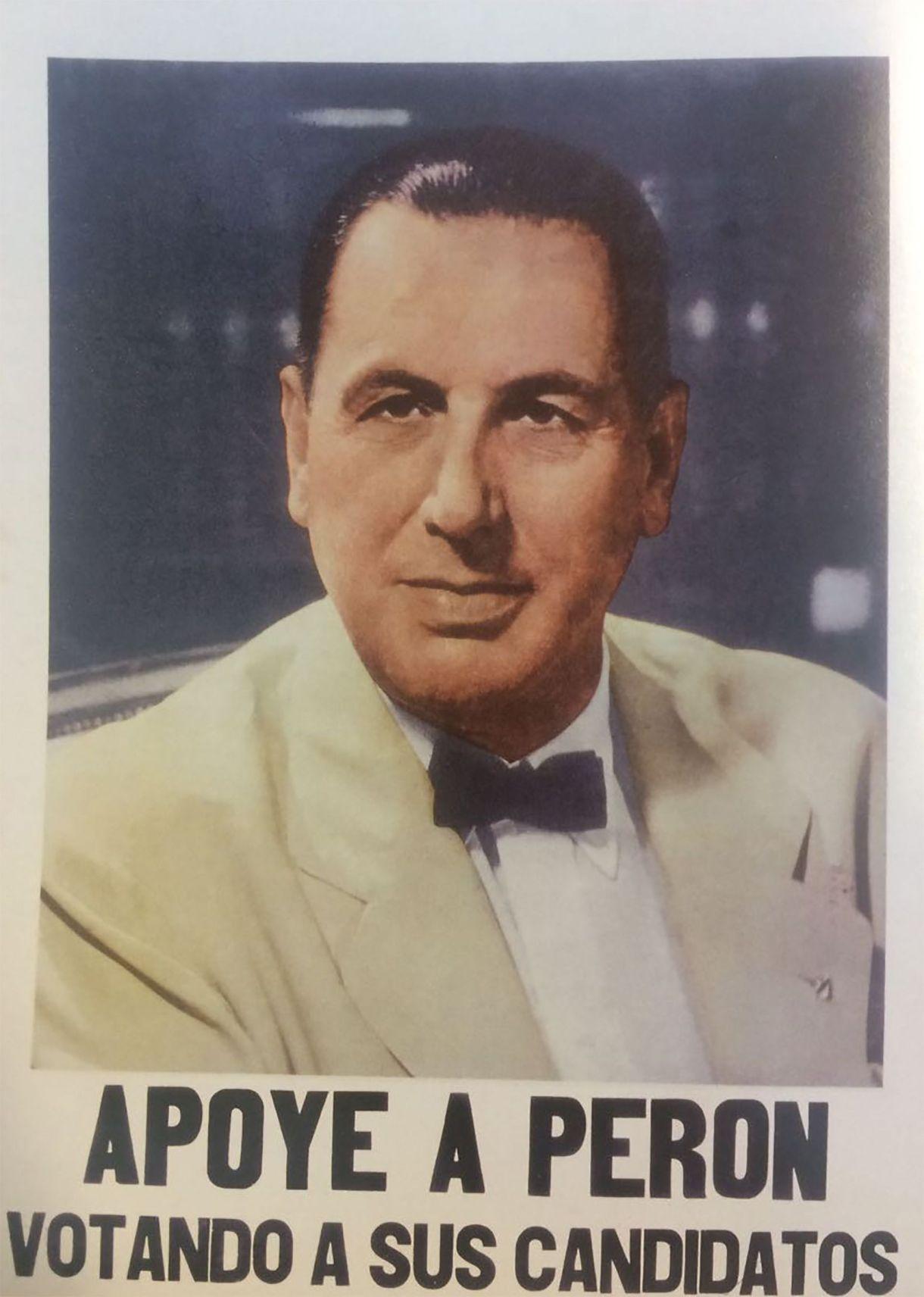 Viejos afiches de Perón del año 1954