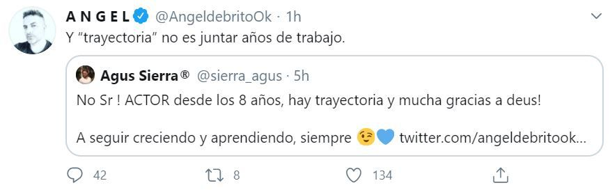 Tweet de angel de brito