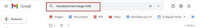 Así puedes filtrar los mails con adjuntos más pesados en Gmail