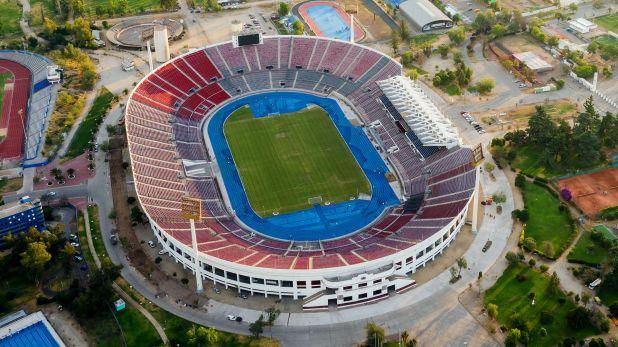 Estadio Nacional de Santiago, donde se disputará la final de la Copa Libertadores el 23 de noviembre