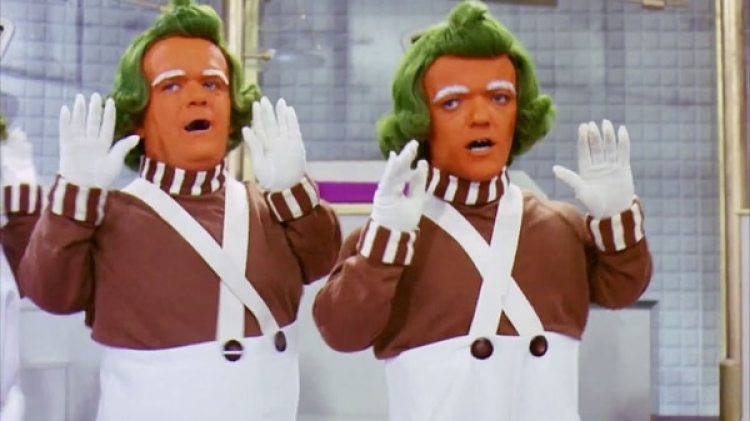 "Oompa Loompas, los personajes de la película ""Willy Wonka & the Chocolate Factory"", de 1971"