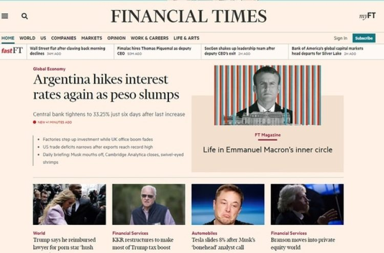 El Financial Times destaca la situación local