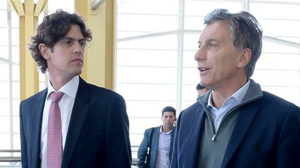 Martín Lousteau y Mauricio Macri durante la gestión de Cambiemos