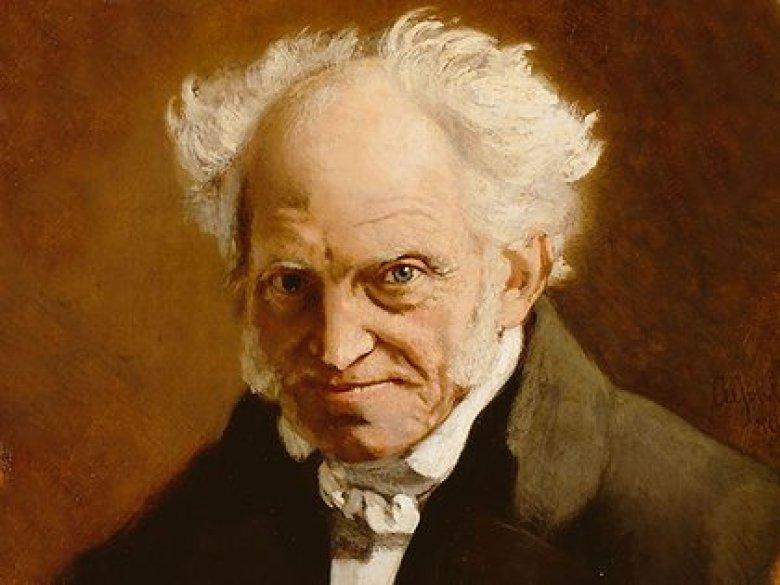 Arthur Schopenhauer en 1859. Pintura de Angilbert Göbel.