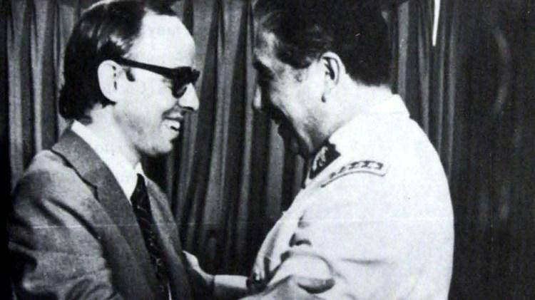 Jaime Guzmán y Augusto Pinochet