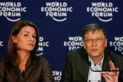Bill y Melinda Gates en el Foro Económico Mundial, en Davos, en 2009