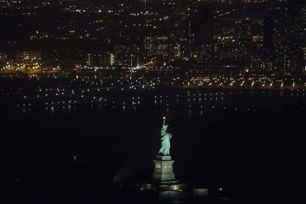 Así se ve normalmente el monumento cuando está iluminado.
