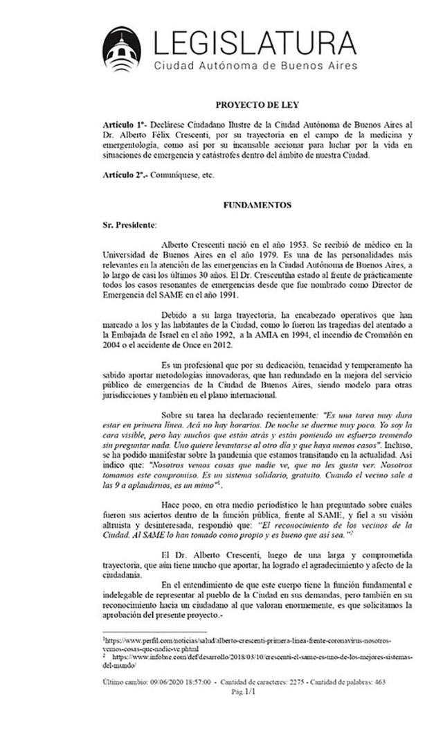 El proyecto que impulsó el legislador del Frente de Todos Leandro Santoro