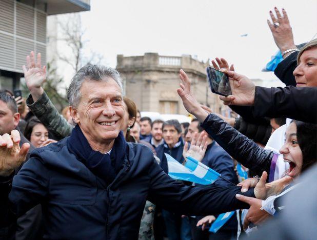 Mauricio Macri en Pergamino. Esta tarde irá a Chaco