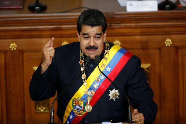 Nicolás Maduro en su discurso durante una sesión de la Constituyente (Reuters)