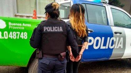 La foto de la mujer cuando fue detenida durante los primeros días de agosto
