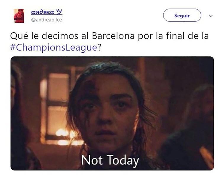 """Not Today"" (""Hoy no"") la frase de Arya Stark que se viralizó en ""Game Of Thrones"""