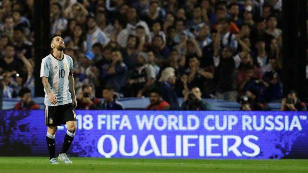 El último partido de Argentina en La Bombonera por Eliminatorias fue 0 a 0 ante Perú en 2017 (AP)