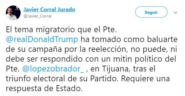 El chihuahuense negó rotundamente la invitación del presidente mexicano (Foto: Twitter)