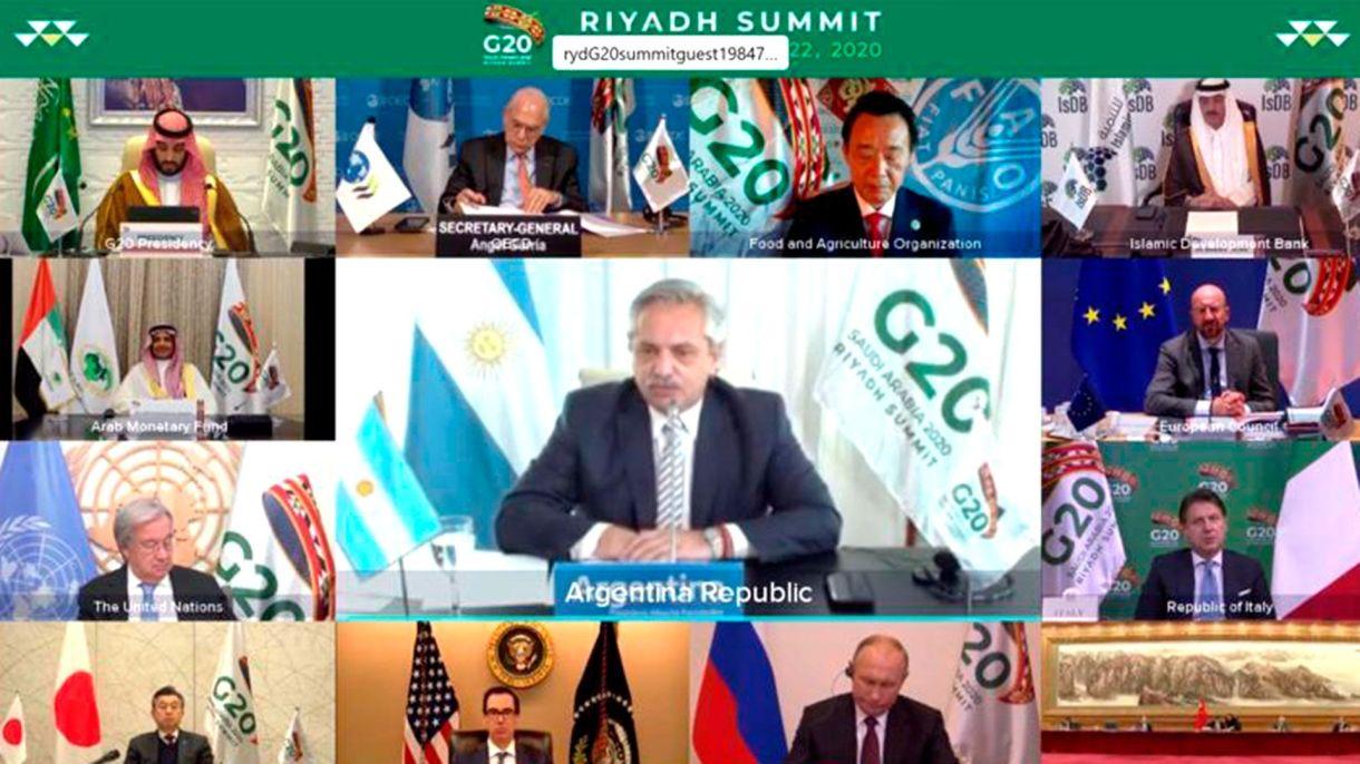 alberto fernandez captura G20 2