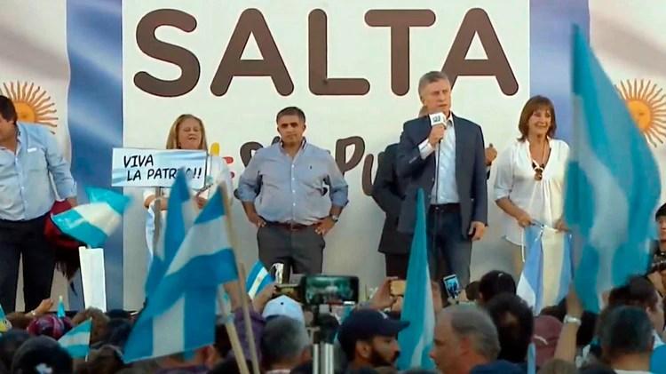 El Presidente, en la marcha que tuvo lugar en Salta