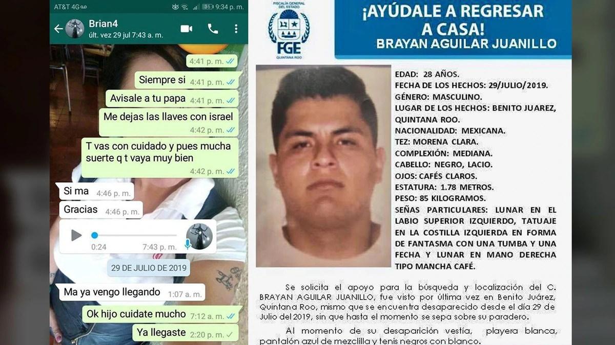 Bryan Aguilar viajó a Cancún por trabajo y nadie lo volvió a ver: desde Dominicana han extorsionado a su familia