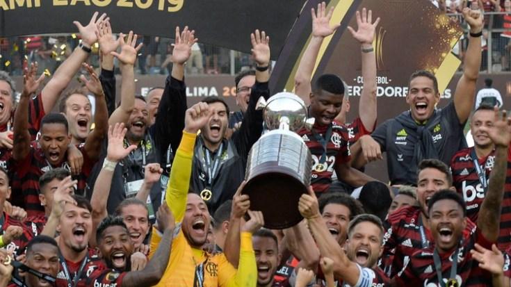 Flamengo protagonizó un año inolvidable que cerrará en Qatar con el Mundial de Clubes (Photo by Ernesto BENAVIDES / AFP)