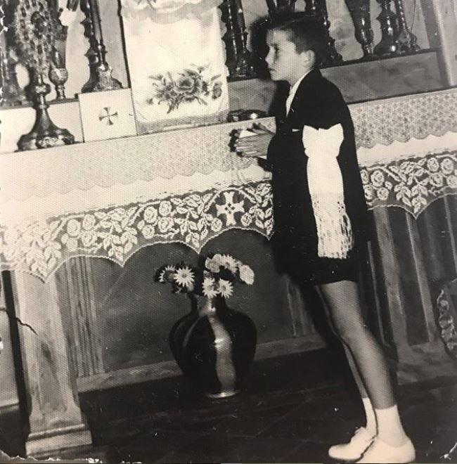 Pancho en su primera comunión
