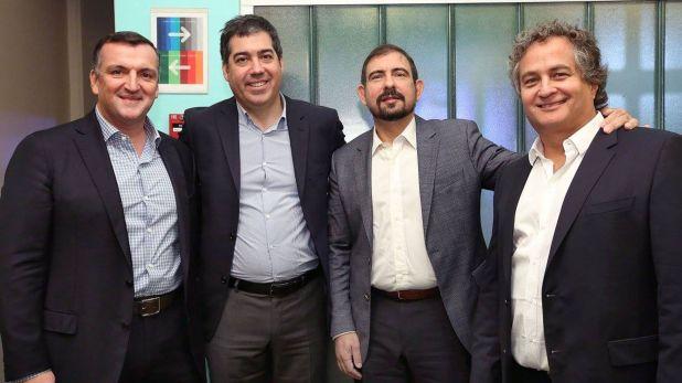 Migoya Junto a Martín Umaran, Néstor Nocetti y Guibert Englebienne, amigos, socios y cofundadores de Globant