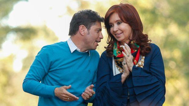 Axel Kicillof y Cristina Kirchner en La Plata