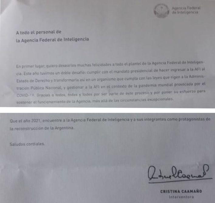 Carta Caamaño AFI