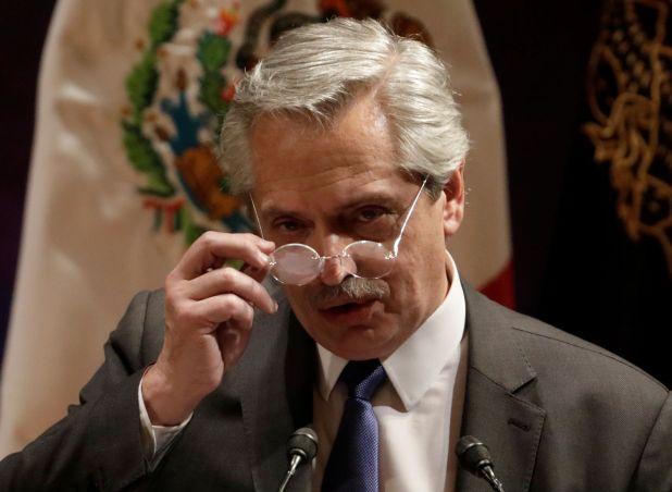 Alberto Fernández, durante su gira por México (REUTERS/Luis Cortes)